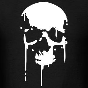 Black SKULL BLOOD SPLATTER METAL PUNK Vector T-Shirts - Men's T-Shirt