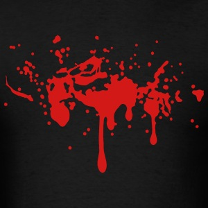 VAMPIRE BLOOD SPLATTER HALLOWEEN ROCK BAND Vector - Men's T-Shirt