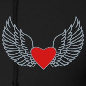 Black Heart and Wings Zip Hoodies/Jackets - Men's Zip Hoodie