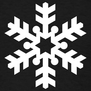 Black snowflake T-Shirts - Men's T-Shirt