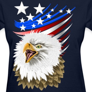 Flag N Eagle - Women's T-Shirt