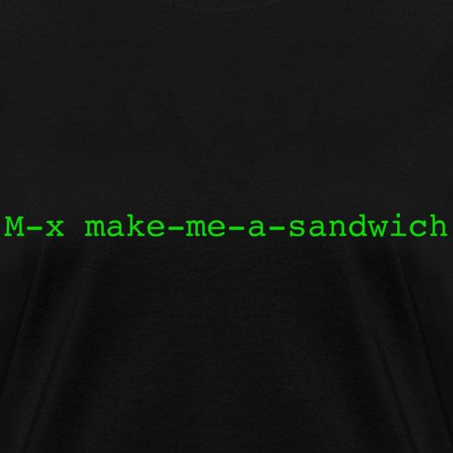 M-x make-me-a-sandwich