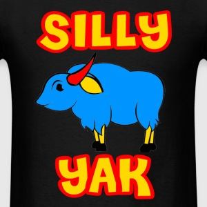 Black Silly Yak Celiac Disease Gluten Free T-Shirts - Men's T-Shirt