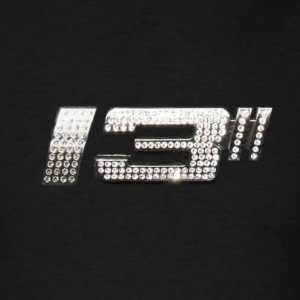 Black 13 Rim Size Logo T-Shirts - Men's T-Shirt