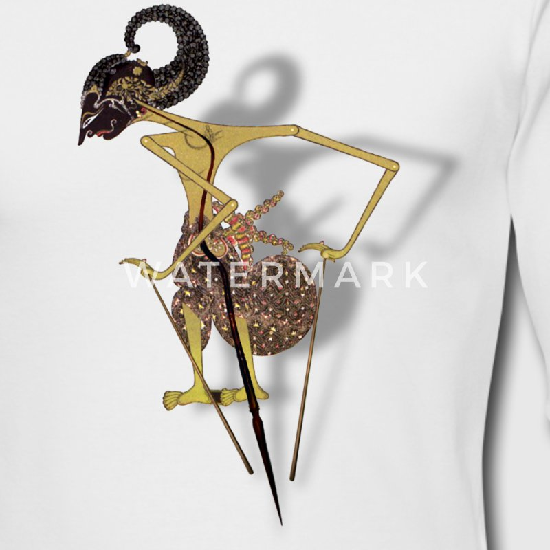 Wayang Arjuna on Long Sleeve - Men's Long Sleeve T-Shirt by Next Level