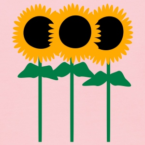 Pink Three Cute Sunflowers With Stem And Leaves Sweatshirts - Kids' Hoodie