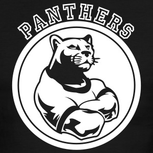 Black/white Panthers Dark Team Graphic T-Shirts - Men's Ringer T-Shirt