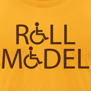 Gold rollmodel T-Shirts - Men's T-Shirt by American Apparel