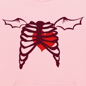 Pink rib cage with love heart and devil wings Sweatshirts - Kids' Hoodie