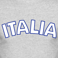 Design ~ ITALIA logo AA Long Sleeve T, Gray
