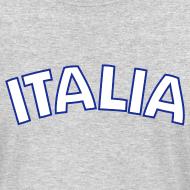 Design ~ ITALIA logo AA Long Sleeve T, Gray