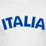 Design ~ ITALIA logo AA Long Sleeve T, White