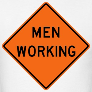 Men Working 2c - Men's T-Shirt