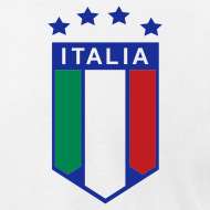 Design ~ 4 Star Italia Shield Logo AA T, White