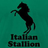 Design ~ Italian Stallion AA T, Light Blue
