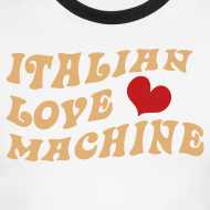 Design ~ Italian Love Machine AA Ringer T, Chocolate & Tan
