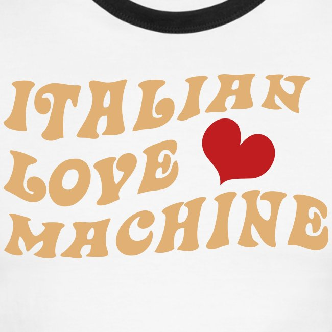 Italian Love Machine AA Ringer T, Chocolate & Tan