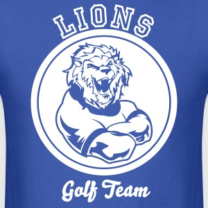 Royal blue Custom Sports Lions Mascot T-Shirts - Men's T-Shirt