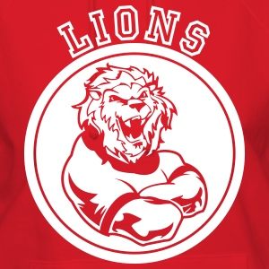 Red Custom Sports Lions Mascot Hoodies - Women's Hoodie