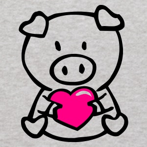 Heather grey oink with heart Sweatshirts - Kids' Hoodie