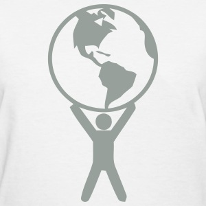 White the hole world in your hand Women's T-Shirts - Women's T-Shirt