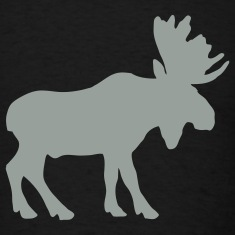 Black moose T-Shirts