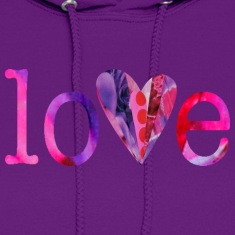 Light pink LOVE (pinks) Hoodies