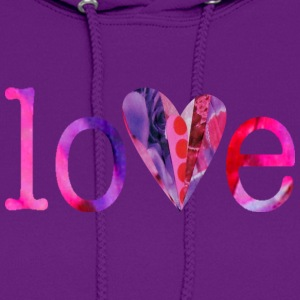 Light pink LOVE (pinks) Hoodies - Women's Hoodie