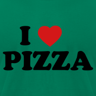 Design ~ I Heart Pizza AA T, Green