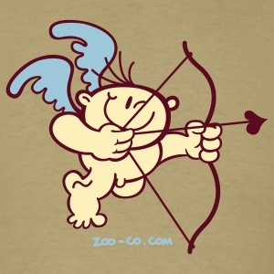 Khaki Cupid in Action T-Shirts - Men's T-Shirt