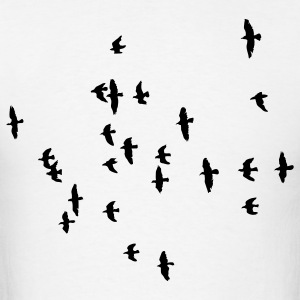 Flock of Birds 1c - Men's T-Shirt