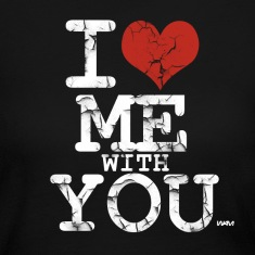 Black i love me with you white by wam Long Sleeve Shirts