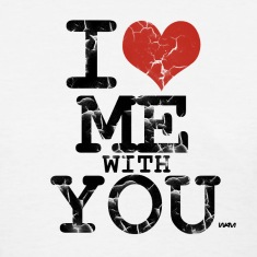 White i love me with you by wam Women's T-Shirts
