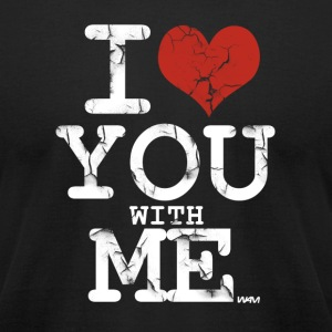 i love you with me white by wam T-shirts (manches courtes) - T-shirt pour hommes American Apparel