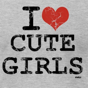 Heather grey i love cute girls vintage by wam T-Shirts - Men's T-Shirt by American Apparel