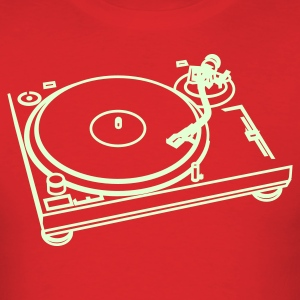 Red turn_table T-Shirts - Men's T-Shirt