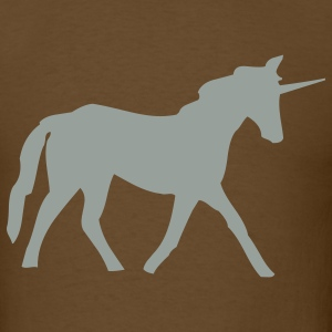 Brown unicorn T-Shirts - Men's T-Shirt