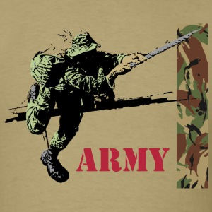 Army T-Shirt, khaki - Men's T-Shirt