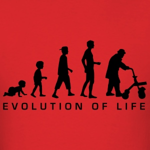 Red evolution_life_man_b T-Shirts - Men's T-Shirt