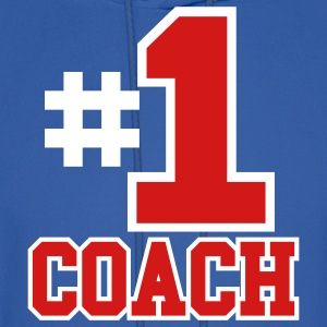 Royal blue Number One Coach Two Color Design Hoodies - Men's Hoodie