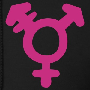 Black Transgender Symbol Zip Hoodies/Jackets - Men's Zip Hoodie