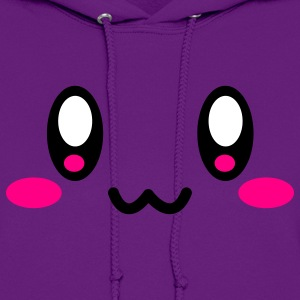 Light pink Super Cute Face Hoodies - Women's Hoodie
