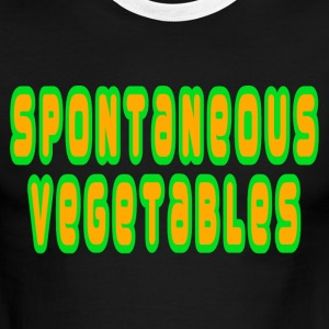 Green/white Spontaneous Vegetables T-Shirts - Men's Ringer T-Shirt