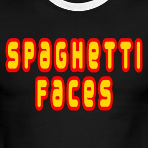 White/red Spaghetti Faces T-Shirts - Men's Ringer T-Shirt