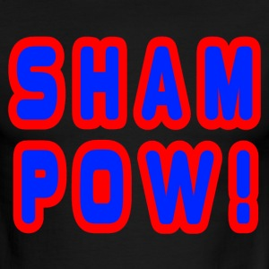 Sky/navy Sham Pow! T-Shirts - Men's Ringer T-Shirt