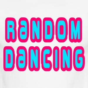Sky/navy Random Dancing T-Shirts - Men's Ringer T-Shirt