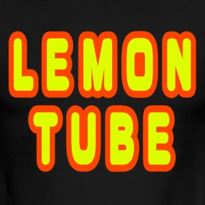 Black/white Lemon Tube T-Shirts - Men's Ringer T-Shirt