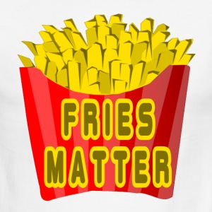 White/red Fries Matter T-Shirts - Men's Ringer T-Shirt