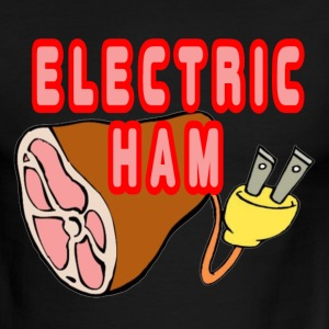 White/red Electric Ham T-Shirts - Men's Ringer T-Shirt