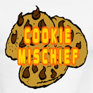 White/black Cookie Mischief T-Shirts - Men's Ringer T-Shirt
